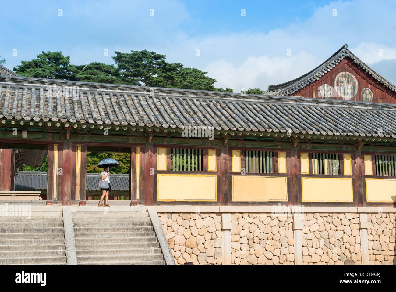 Bulguksa Tempel, Kyongju, Südkorea. Stockbild