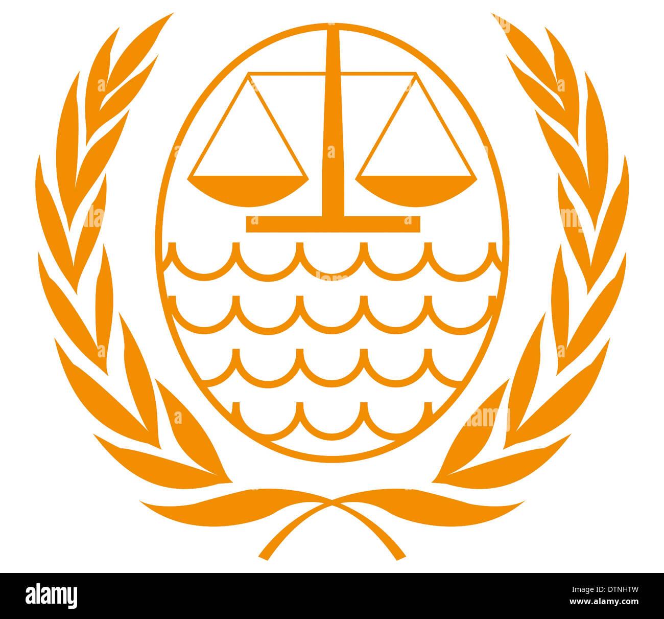 Logo des internationalen Strafgerichtshofs für das Gesetz des Meeres ...