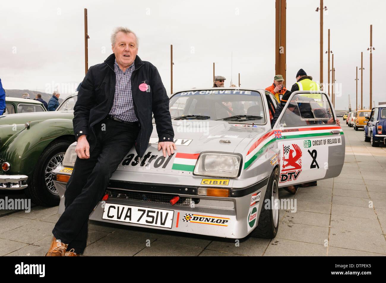 Belfast, Nordirland. 22 Mar 2014 - Jimmy McCrea mit seinem DVR arbeitet Vauxhall Chevette, die er in der Castrol Autosport Serie Credit fuhr: Stephen Barnes/Alamy leben Nachrichten Stockbild
