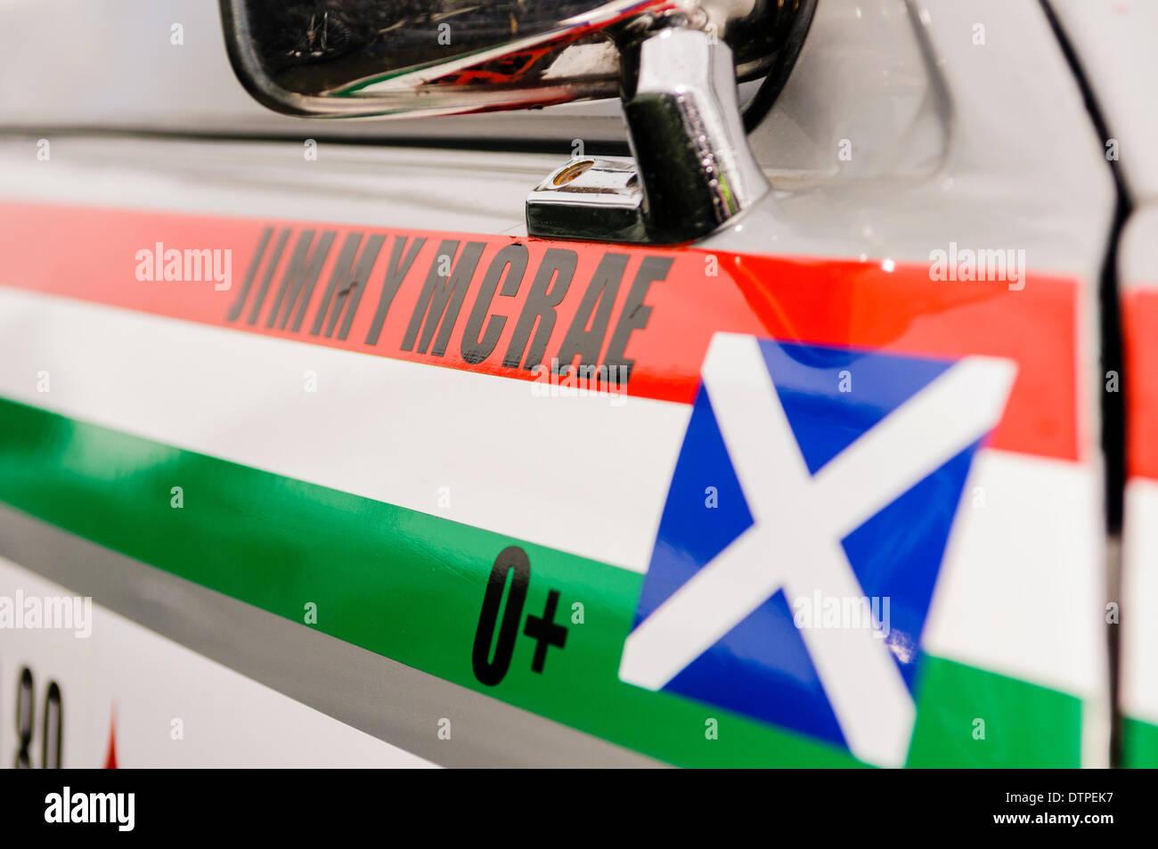 Belfast, Nordirland. 22. Februar 2014 - Jimmy McRea DVR funktioniert Vauxhall Chevette Credit: Stephen Barnes/Alamy Live-Nachrichten Stockbild