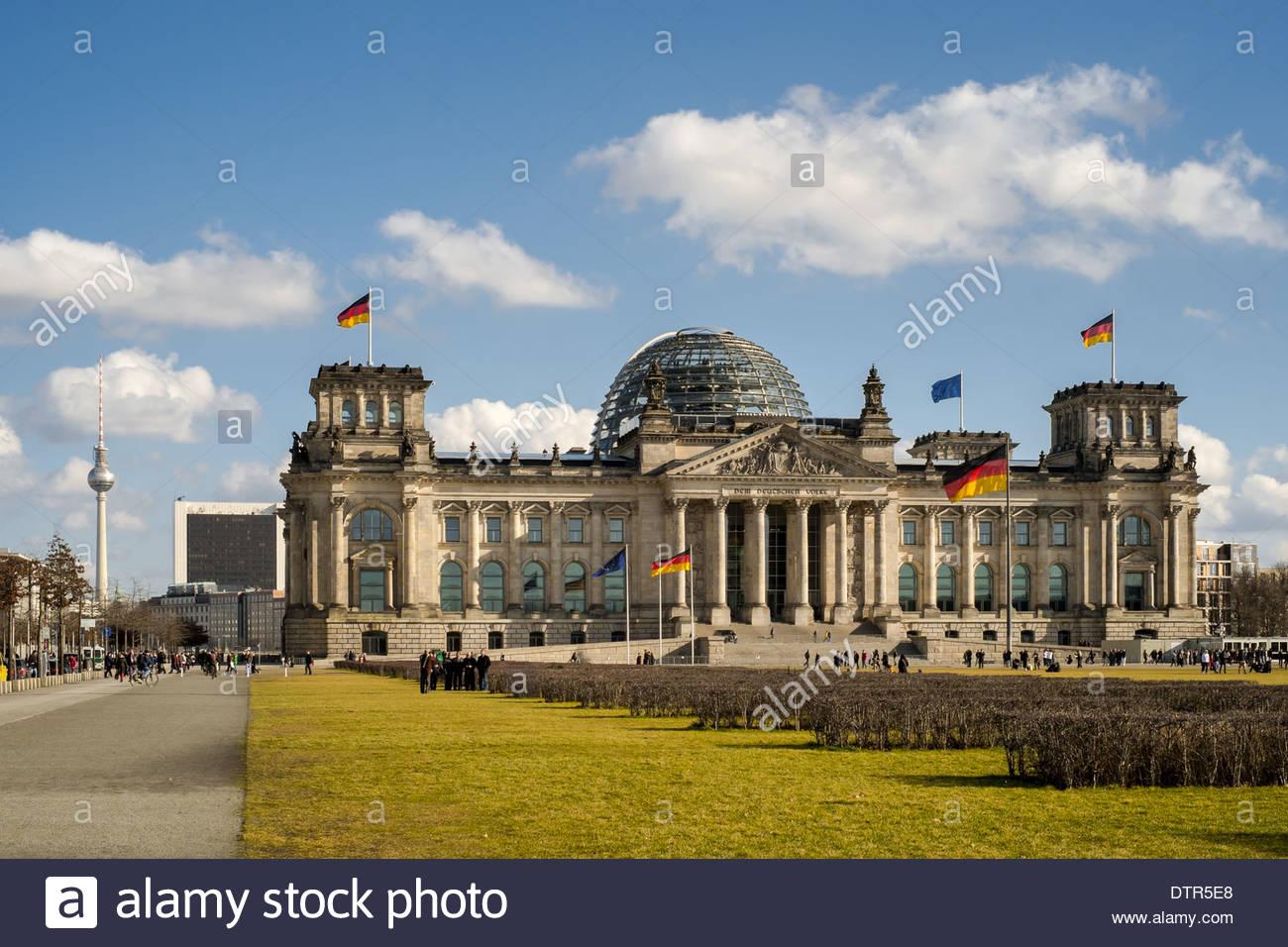 Reichstag - des Deutschen Bundestages in Berlin Deutschland Stockbild