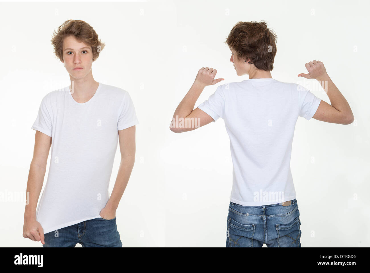 Blank T Shirt Template Front Back Stockfotos & Blank T Shirt ...