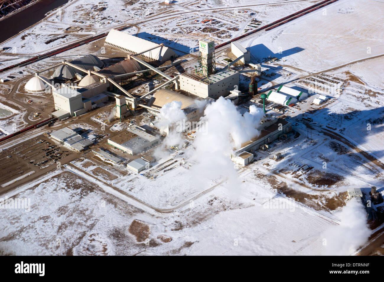 PotashCorp Cory Kali Fabrik produziert drei Pflanzen Nährstoffe Kali (K) Stickstoff (N) und Phosphat (P). Stockbild
