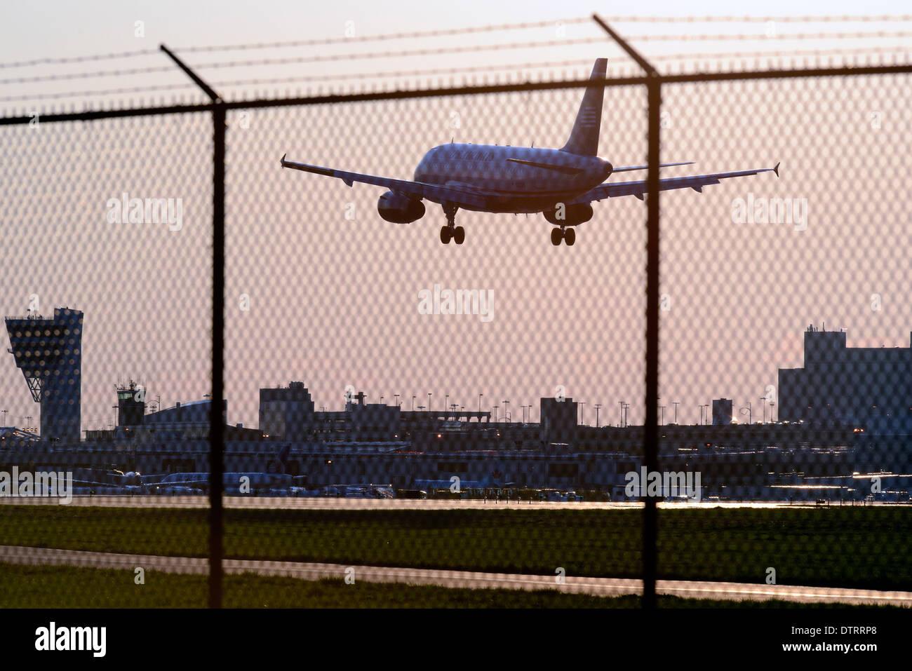 Flugreisen Sie in Philadelphia International Airport in Philadelphia, Pennsylvania. Stockbild