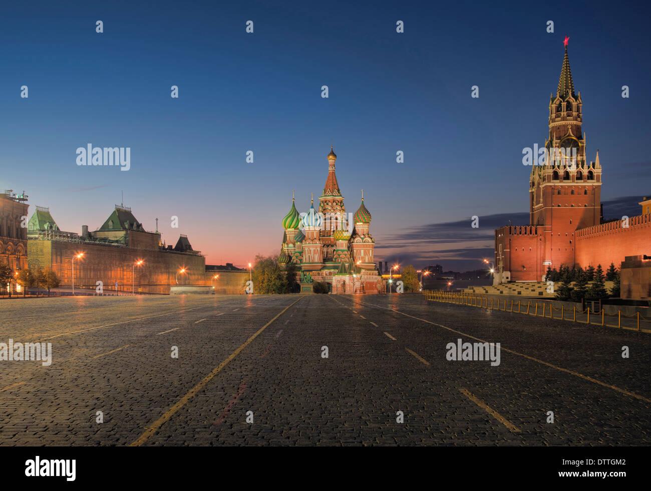 Kreml, Basilius Kathedrale und Roter Platz, Moskau, Russland Stockbild