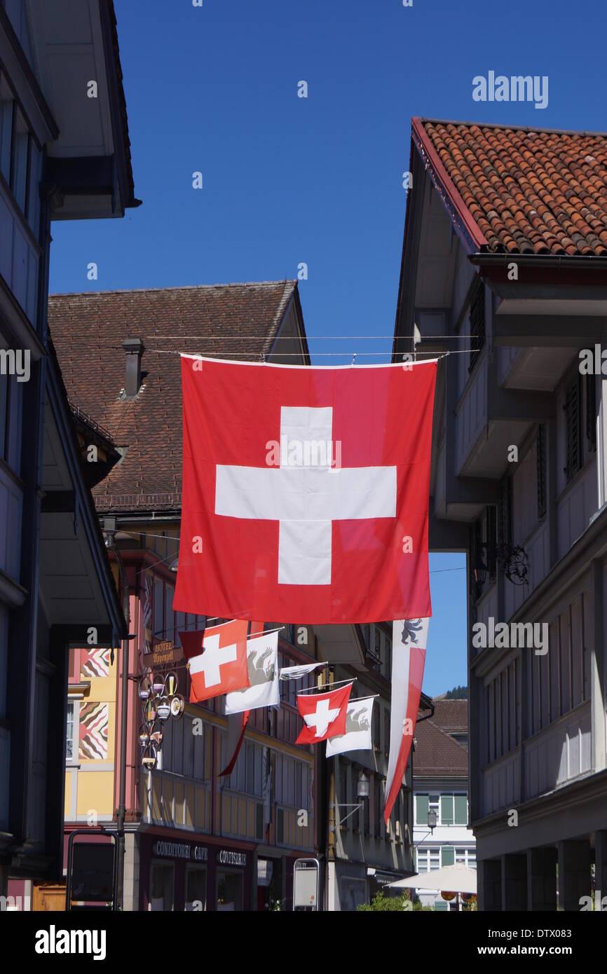 Appenzell, schweiz Stockbild