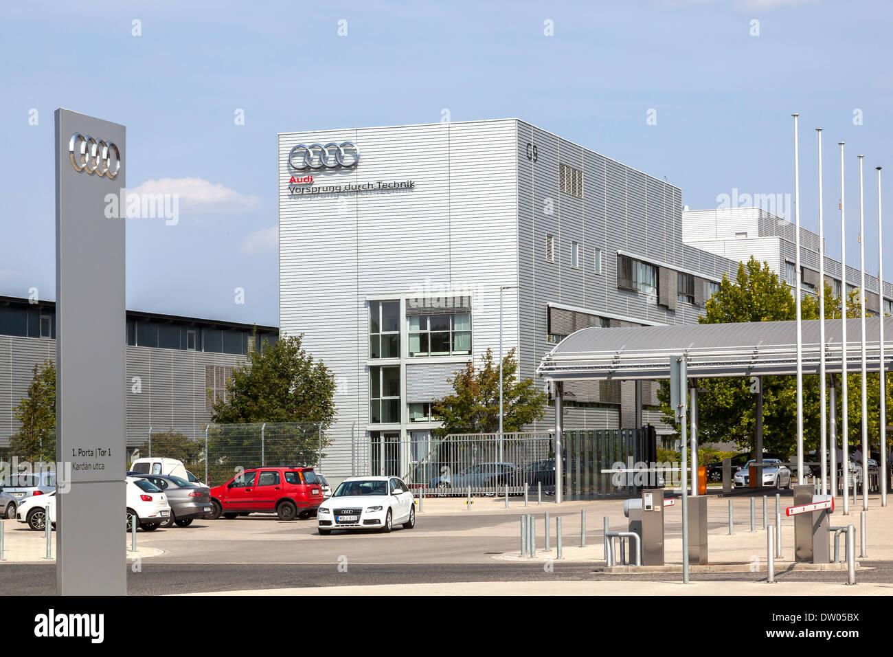 Produktionsstätte der Audi AG in Györ, Ungarn Stockbild