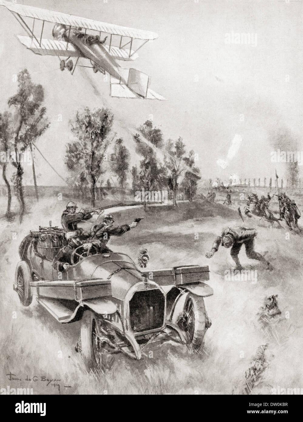 Französische Soldaten retten einen Mechaniker Stockfoto