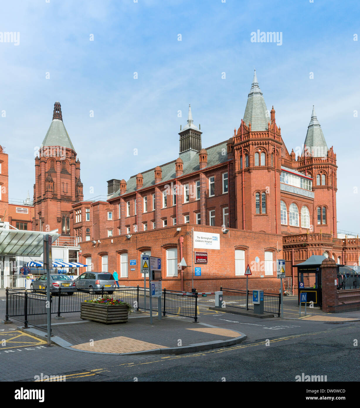 Birmingham Childrens Hospital, Stadtzentrum. Stockbild