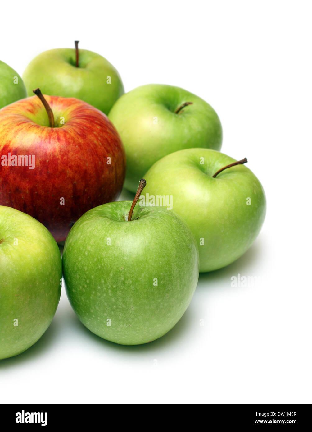 anderes Konzept mit Äpfeln Stockbild