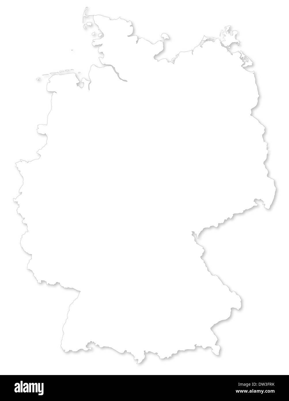 Kleine Deutschlandkarte