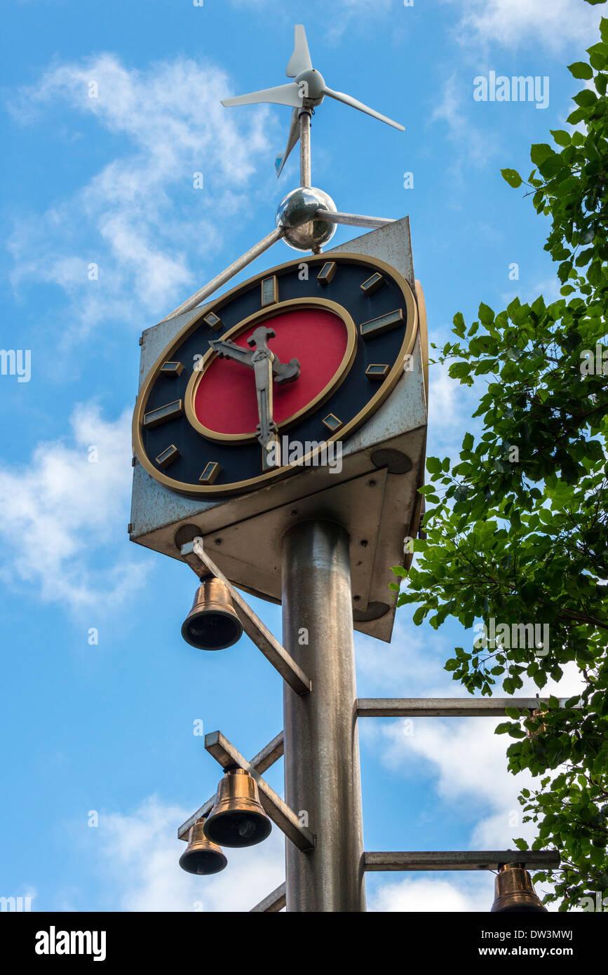 Wind Powered Clock, Taipei, Taiwan Stockbild