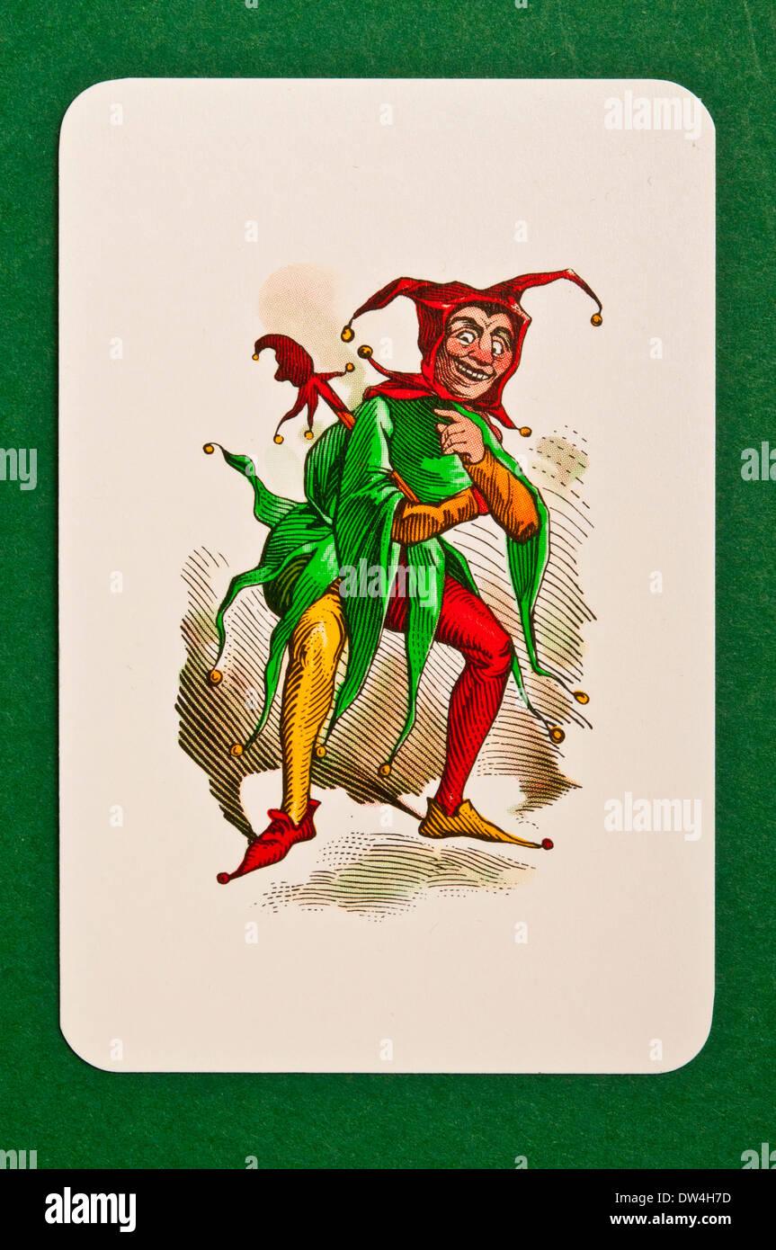 Jolly Joker-Karte Stockbild