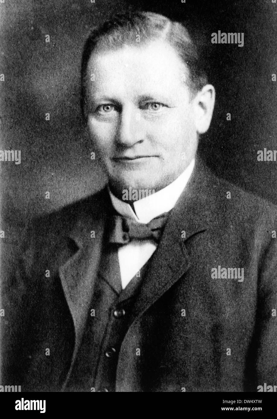 ALBRECHT PENCK (1858 ? 1945), deutscher Geograph Stockbild