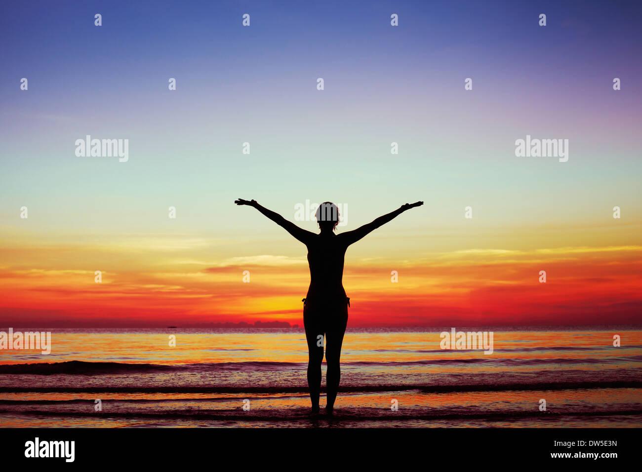 Harmonie von Körper und Seele Stockbild