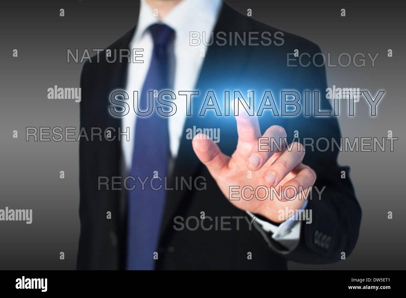 Nachhaltigkeitskonzept Stockbild