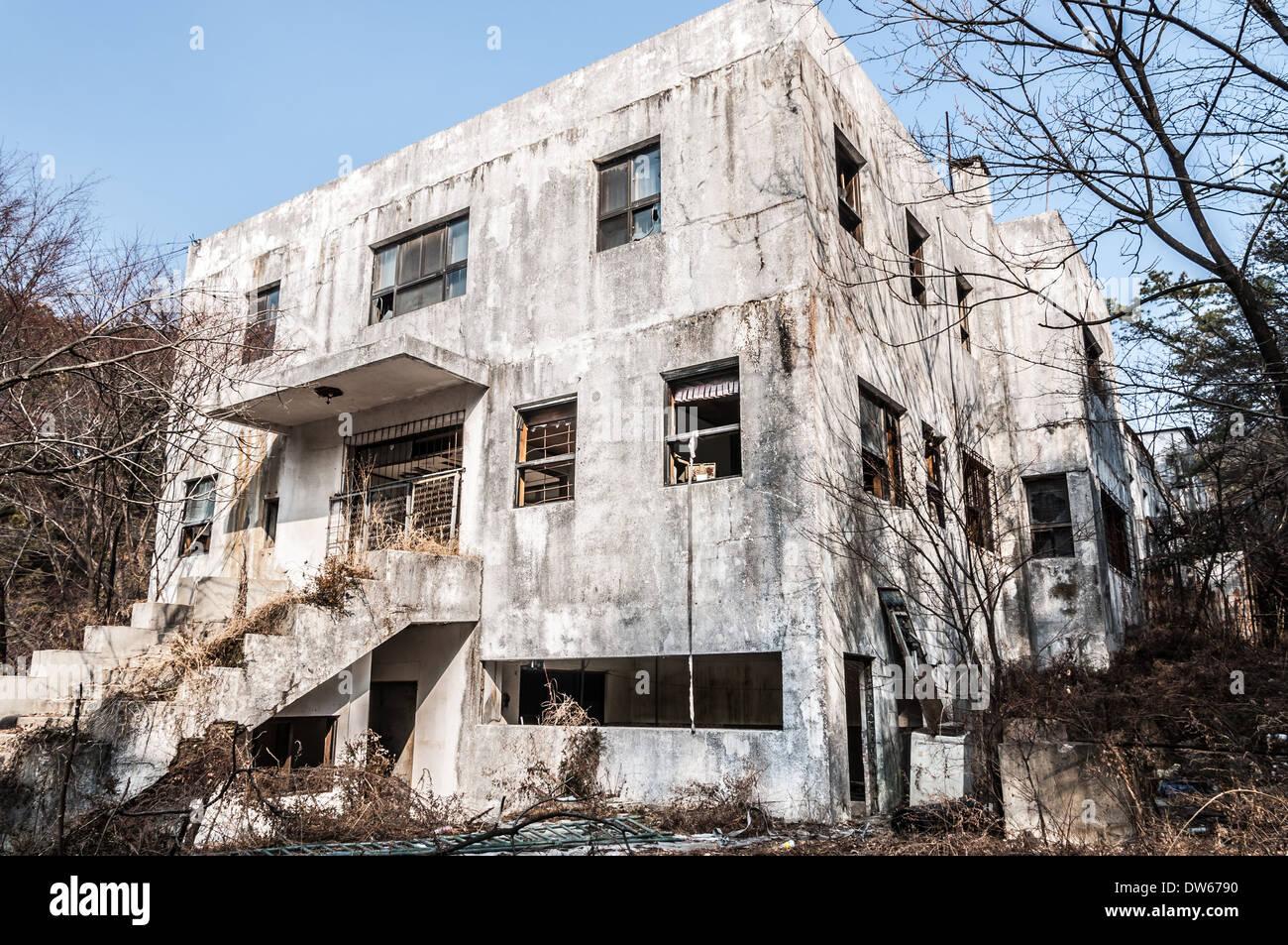 Gonjiam psychiatrisches Krankenhaus in Südkorea. Das Krankenhaus wurde vor fast zwanzig Jahren aufgegeben. Stockbild
