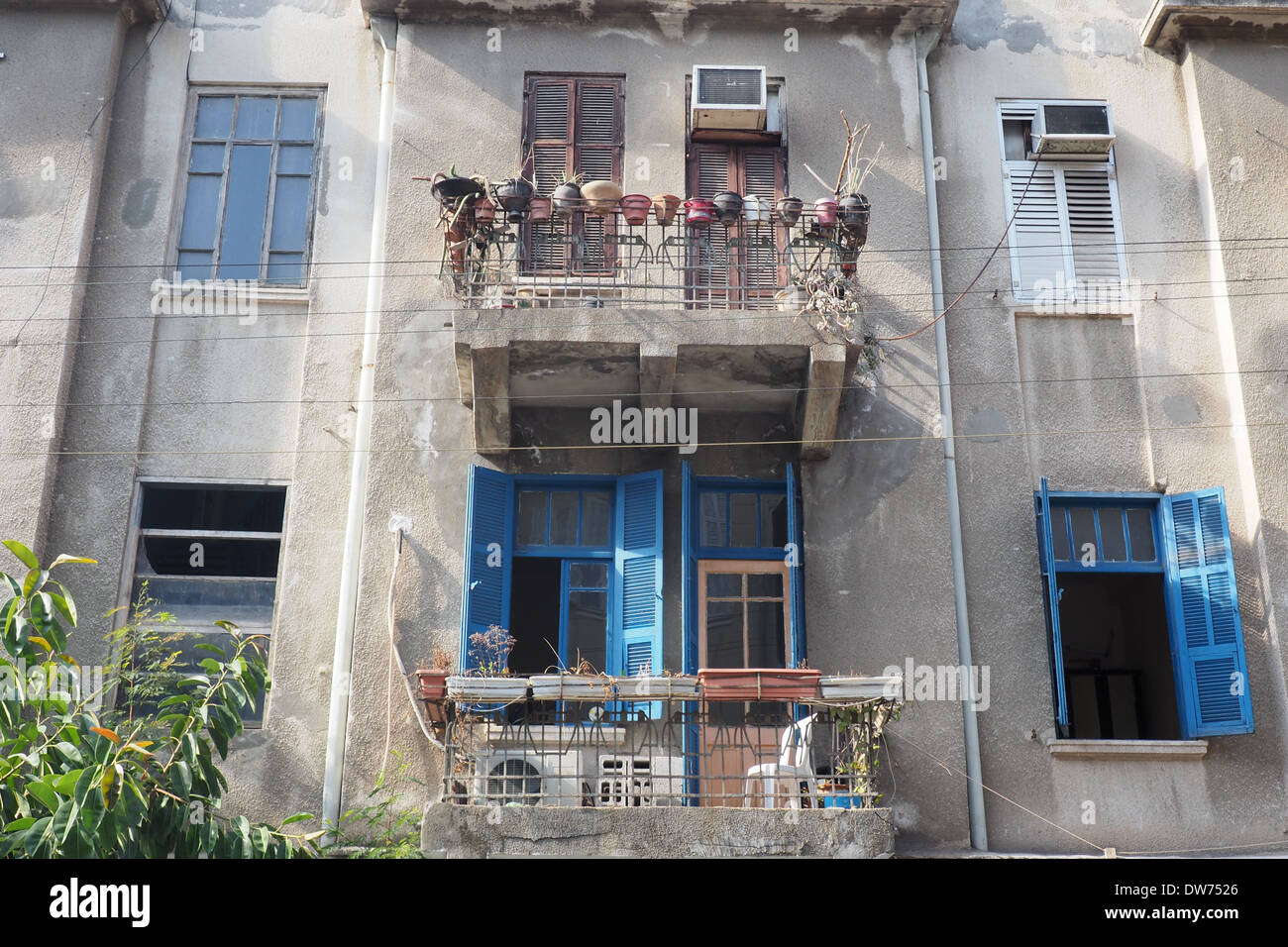Apartment Balcony Shutters Stockfotos Apartment Balcony