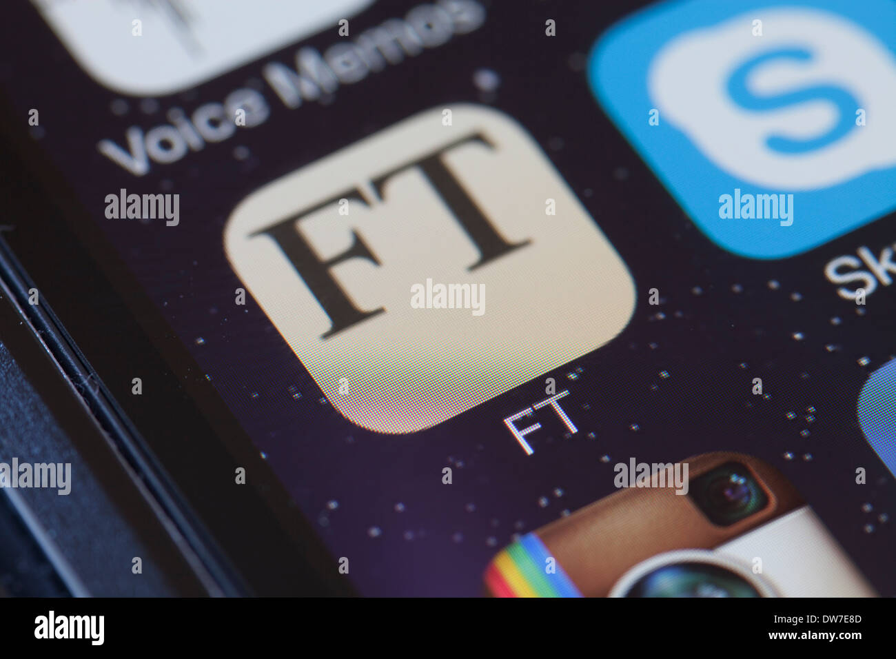 Financial Times-app-Symbol auf dem Handy. Stockbild