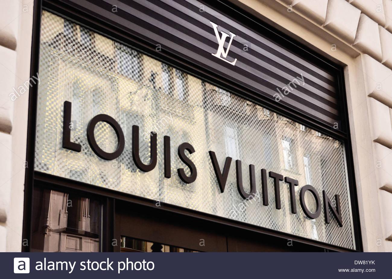 36a80d3fa9fd0 Louis Vuitton Mode Marke Shop-logo Stockfoto