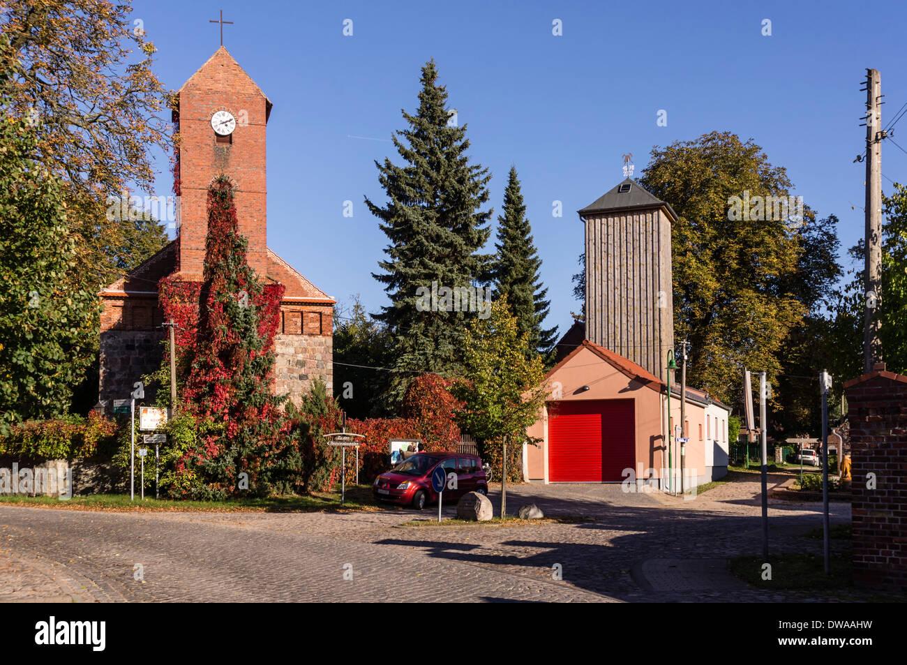 Dorfkirche in Danewitz, Brandenburg, Deutschland Stockbild