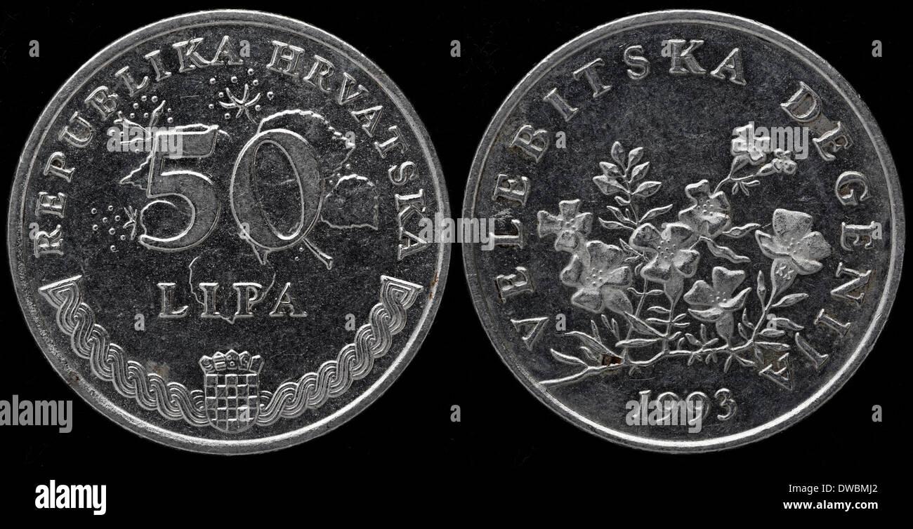 50 Lipa Münze Kroatien 1993 Stockfoto Bild 67255162 Alamy
