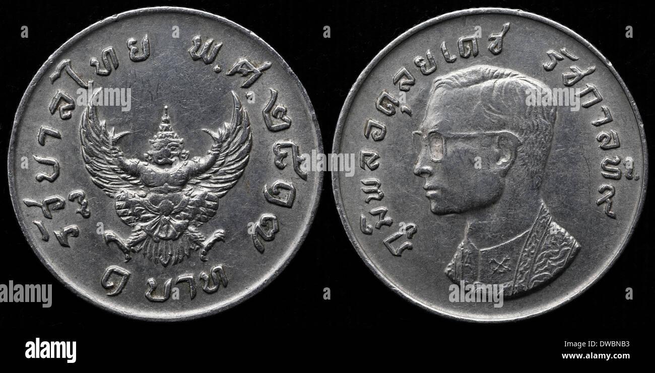 1 Baht Münze Garuda Thailand 1974 Stockfoto Bild 67255751 Alamy