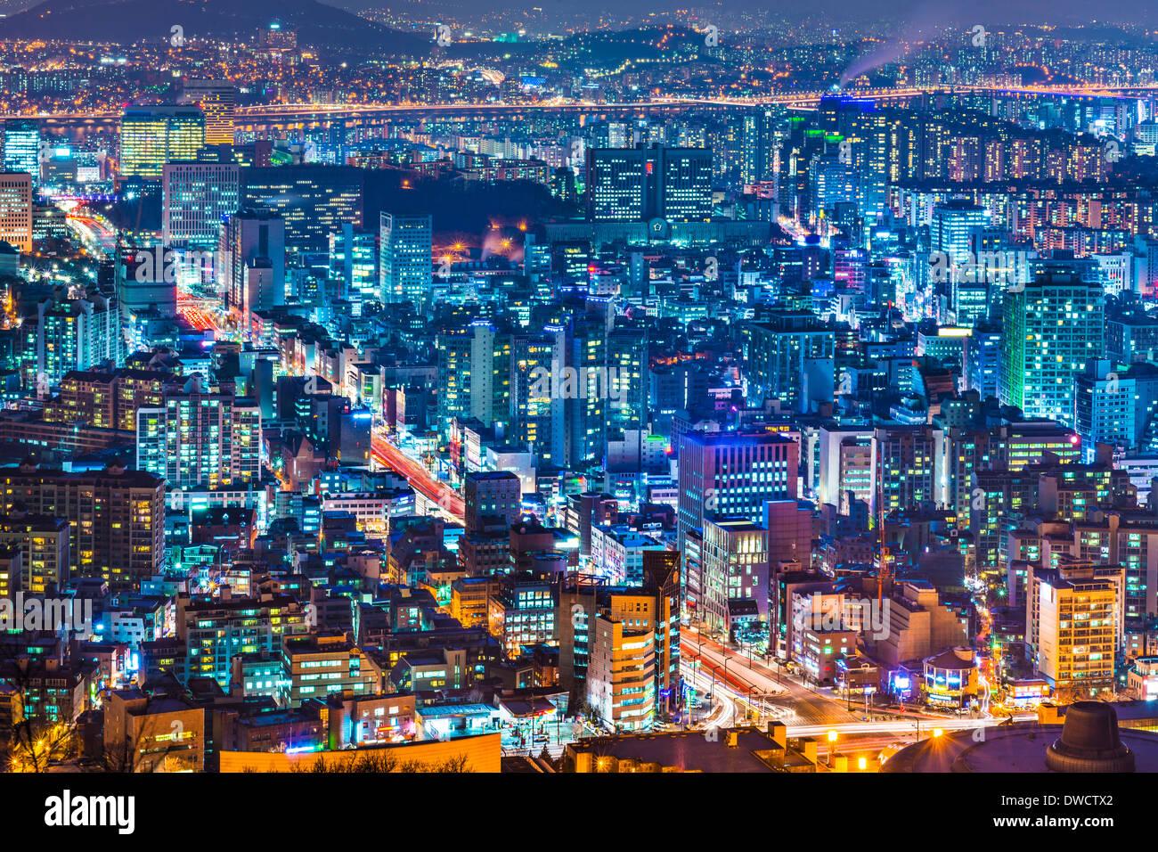 Seoul, Südkorea Stadtbild Stockbild