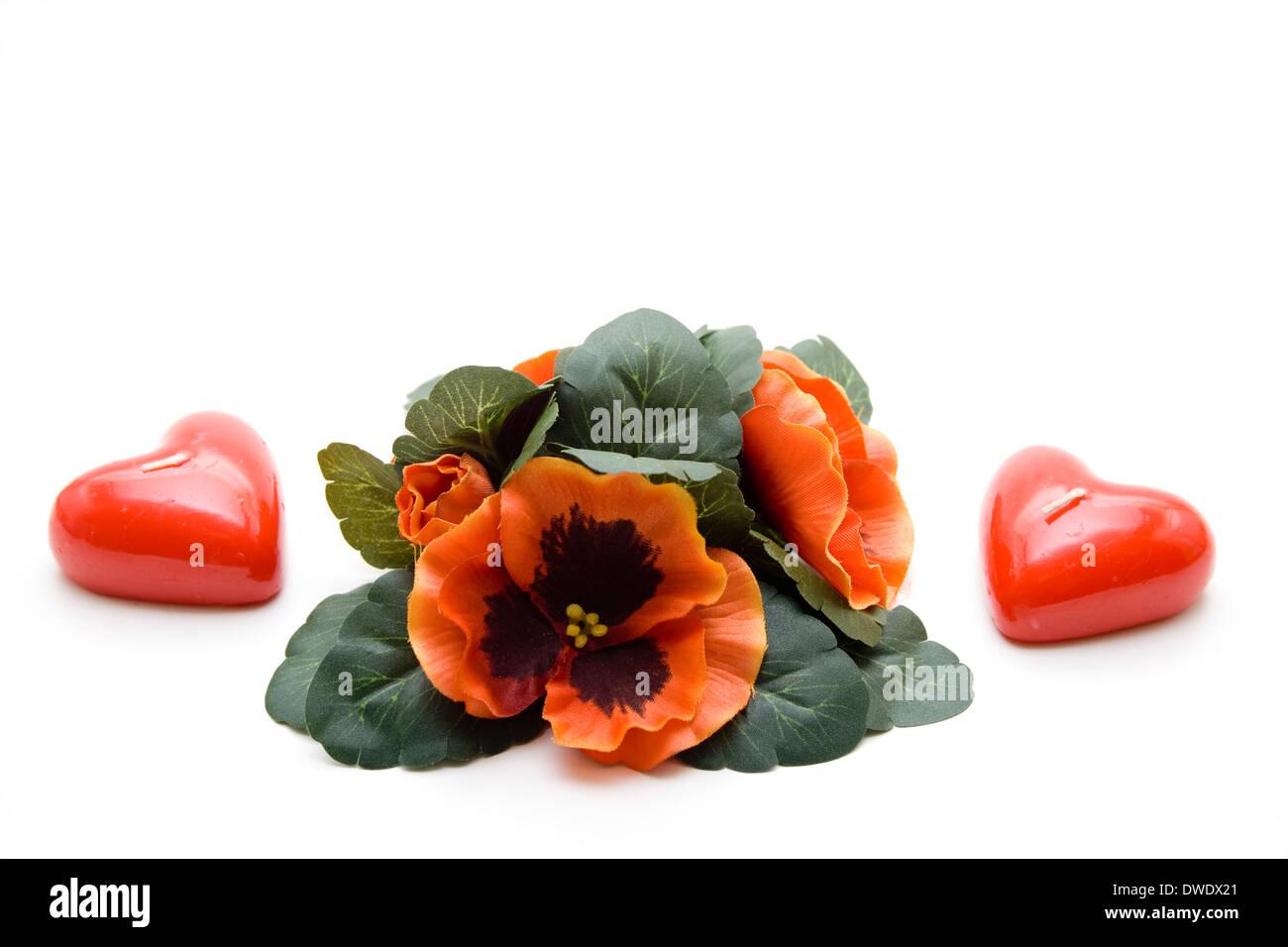 heart candle stockfotos heart candle bilder alamy. Black Bedroom Furniture Sets. Home Design Ideas