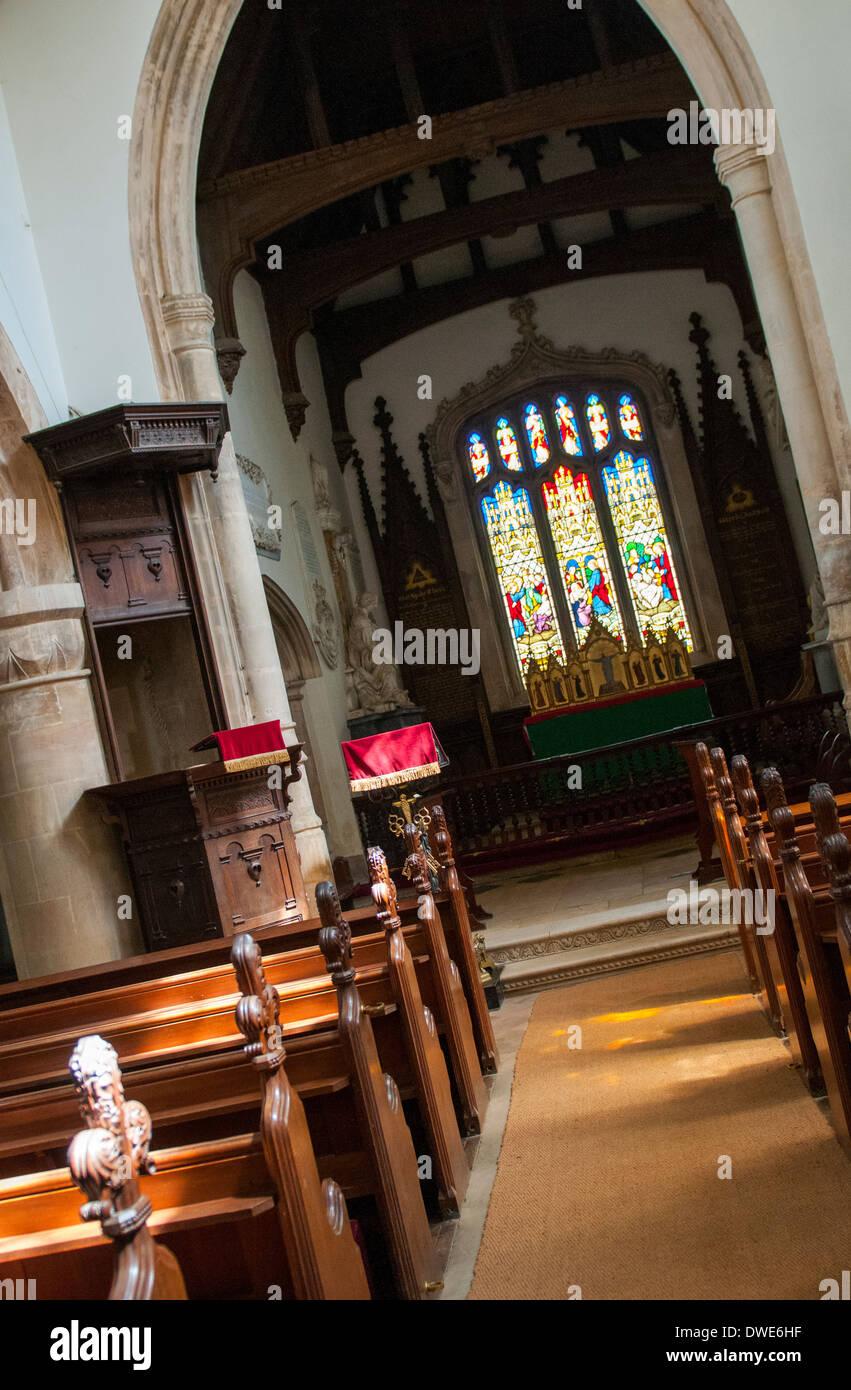 Im Inneren der Kirche St. Peter und St.Paul Belton House, Grantham Lincolnshire UK Stockbild