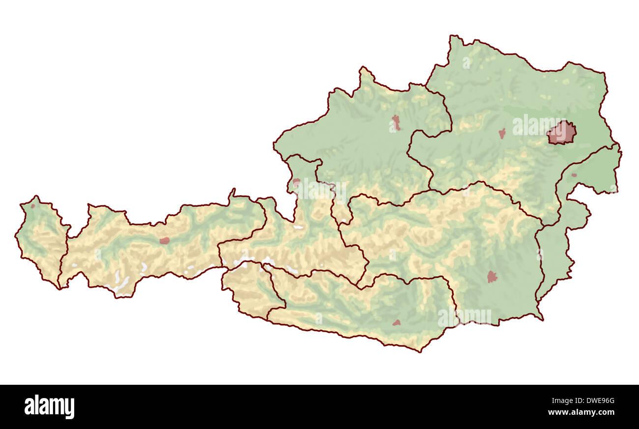 Topographische Karte Ungarn.Topographische Karte Von Osterreich In Europa Die Nicht