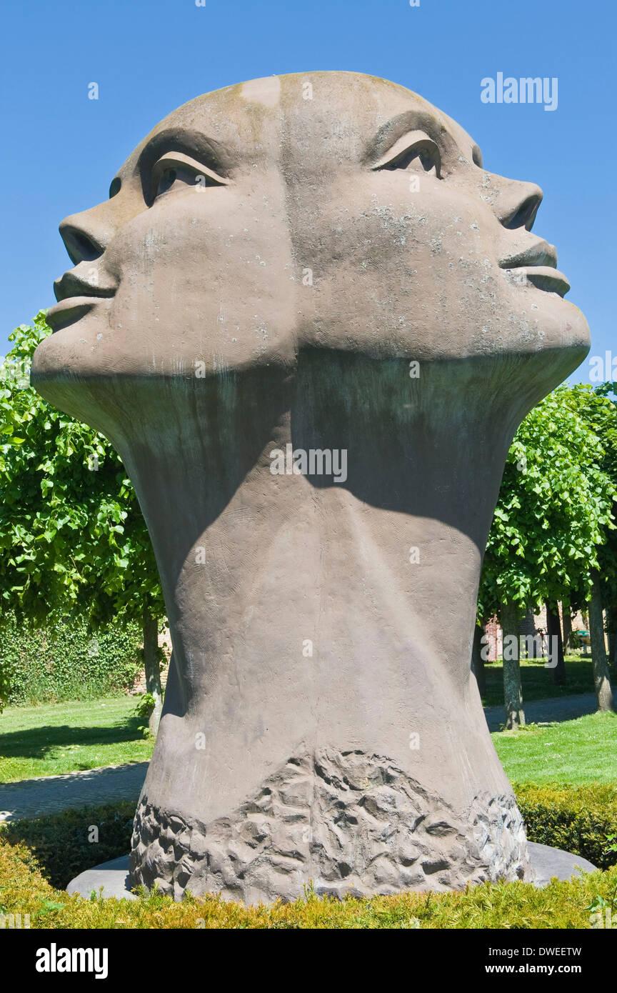 Statue Blick van Licht, Damme Stockbild