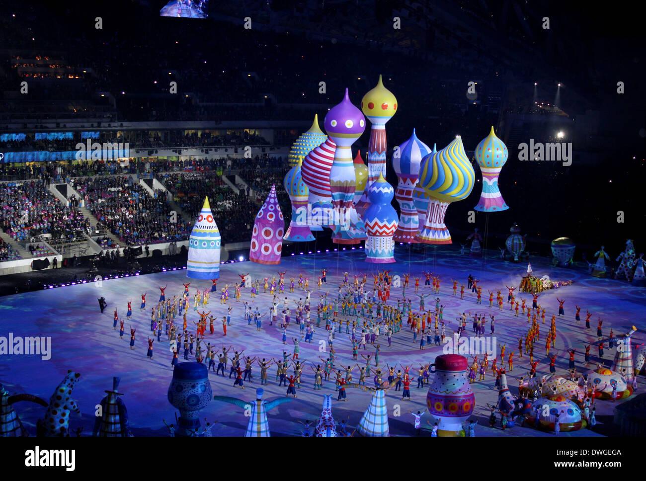 Sotschi Russland 7 Februar 2014 Die Eröffnungsfeier Der Xxii