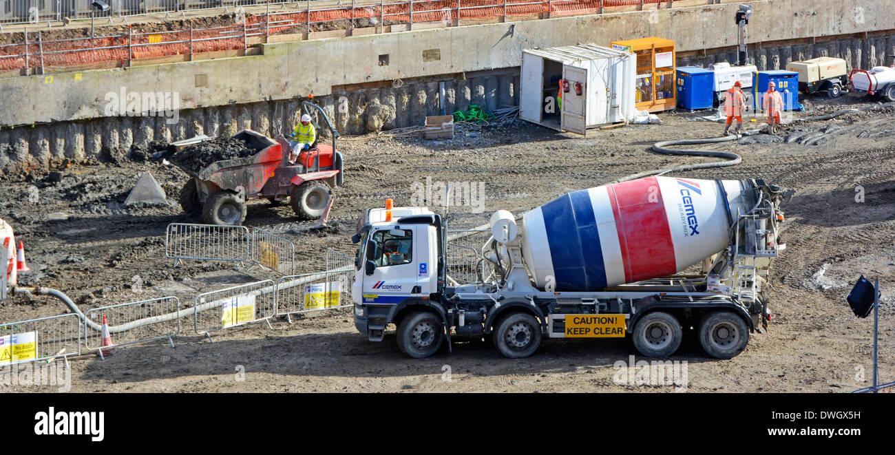 Fertig gemischter beton