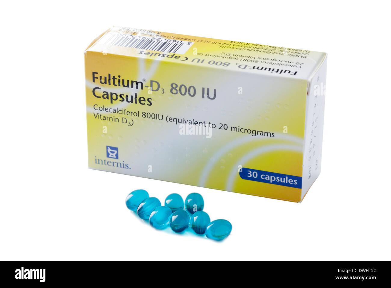 Vitamin D Tabletten Stockbild