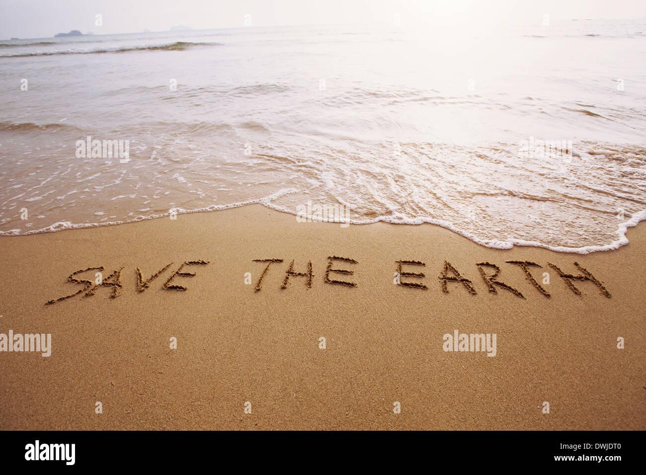 die Erde retten Stockbild
