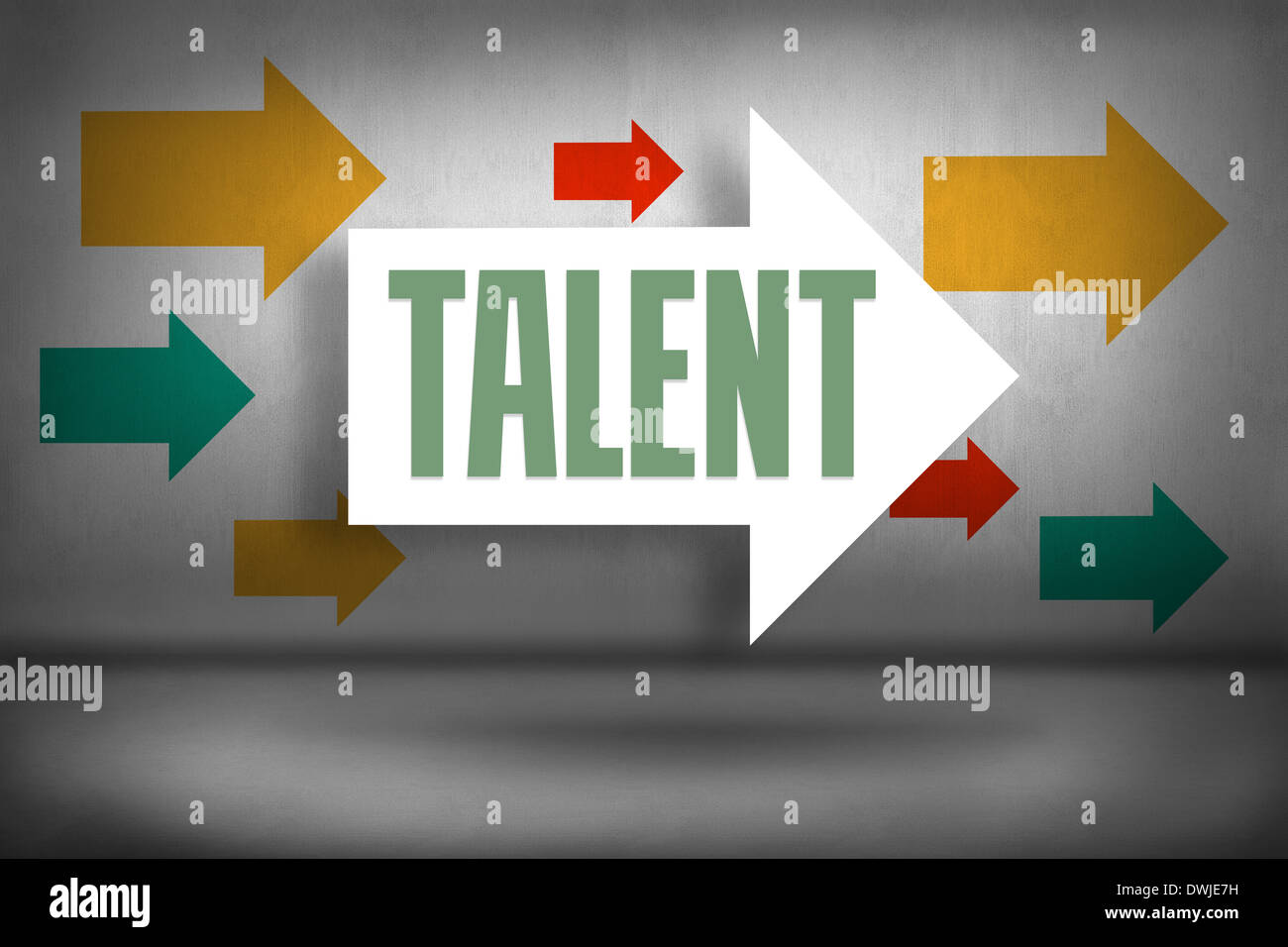 Talent gegen Pfeile Stockbild