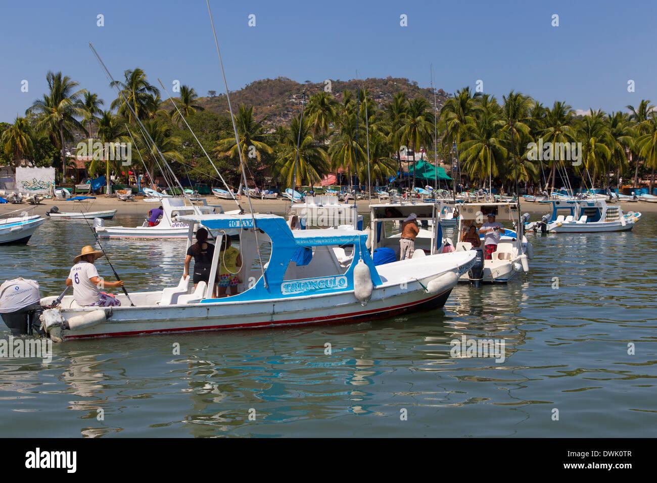 Angeln, Zihuatanejo, Ixtapa, Guerrero, Mexiko Stockbild