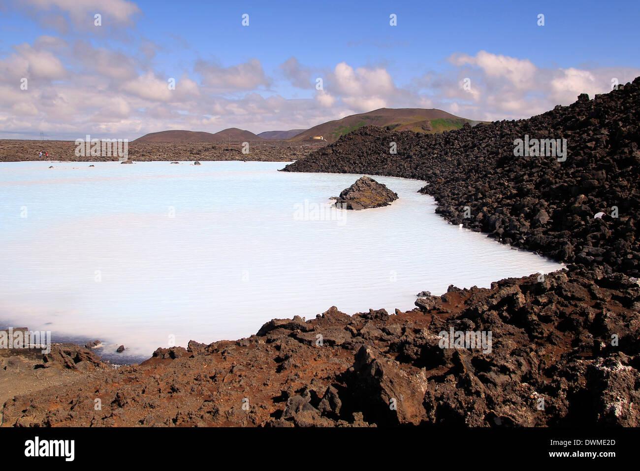 Blaue Lagune, Island, Europa Stockbild