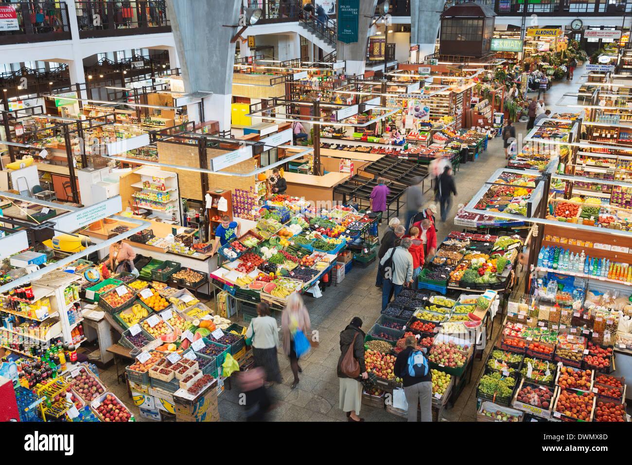 Hala Targowa Markt Halle, Breslau, Schlesien, Polen, Europa Stockbild