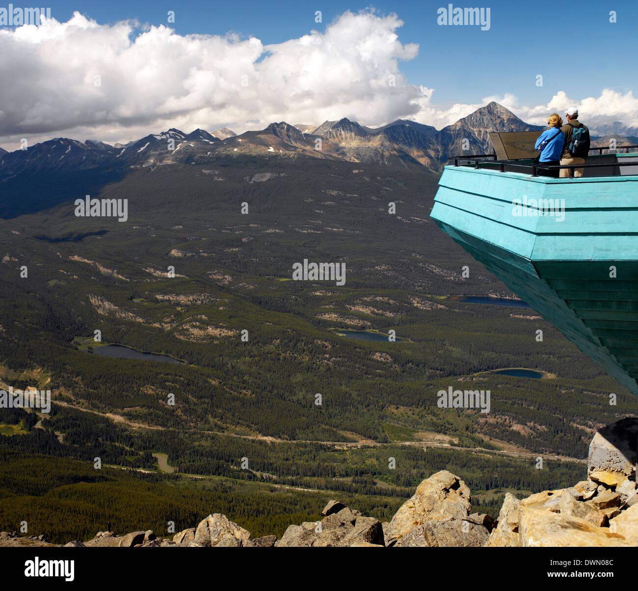 Mountain Top Aussichtspunkt im Jasper National Park. Alberta, Kanada Stockbild
