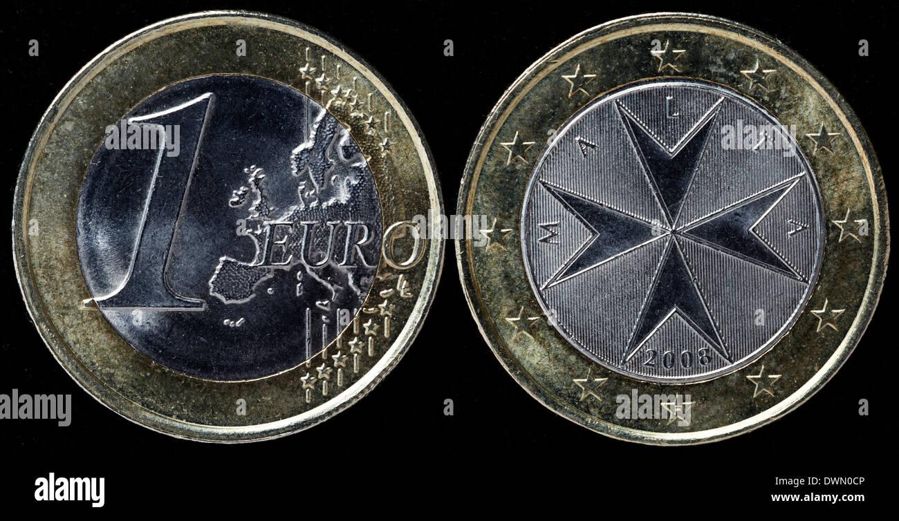 Euro Münze Malteserkreuz Malta 2008 Stockfoto Bild 67458854 Alamy