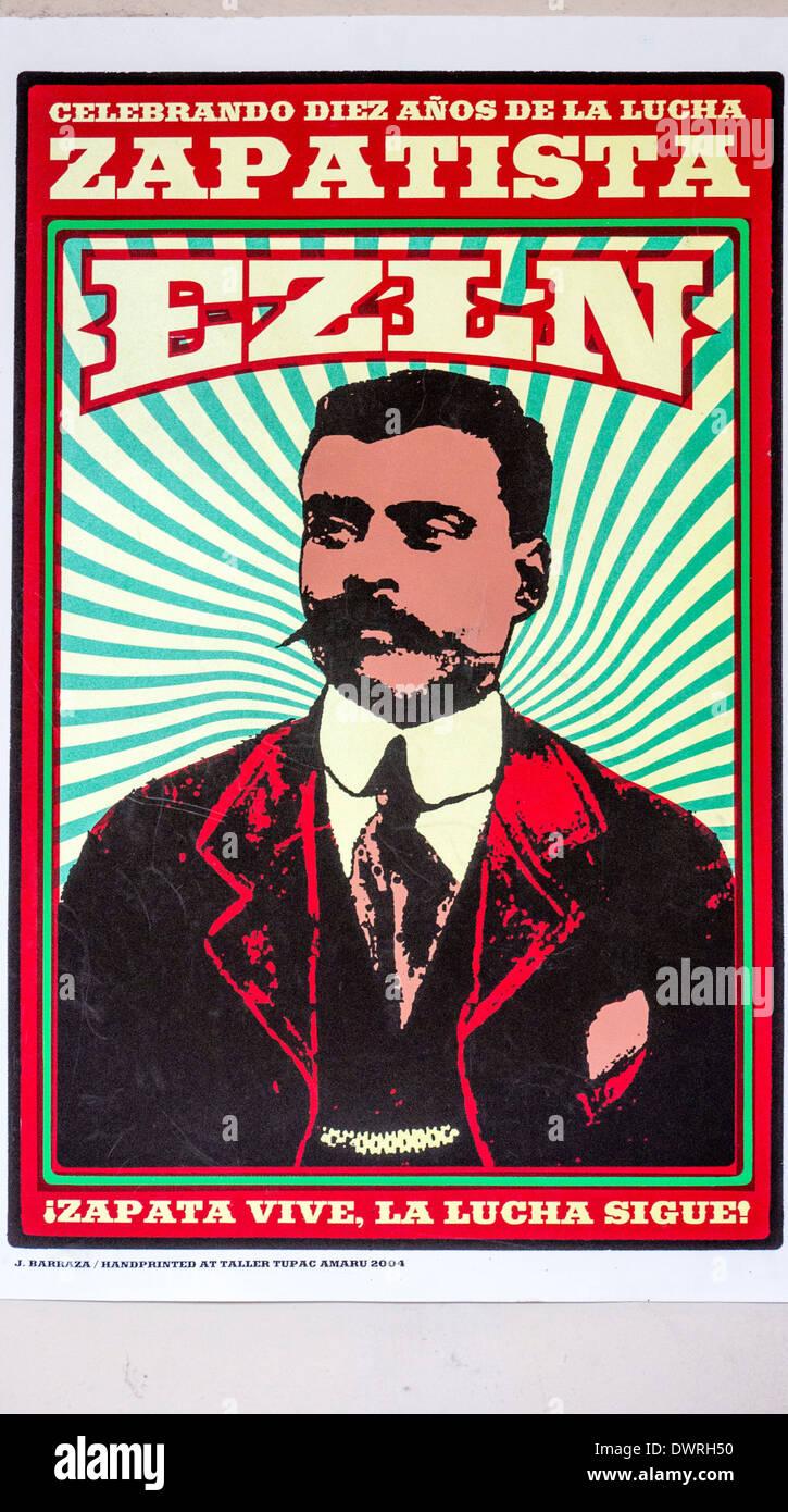 markante Wandposter mit Bild des mexikanischen Revolutionär