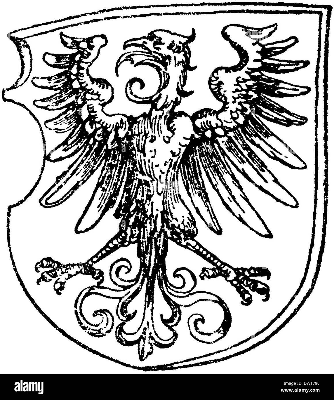 Renaissance Adler. Von Albrecht Dürer Stockbild