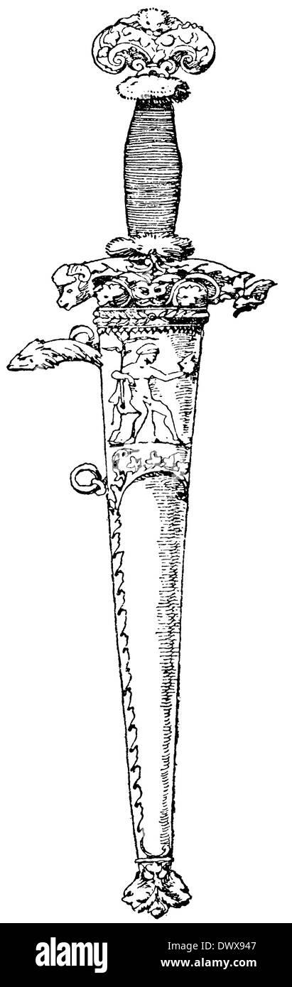 Dolch-Mantel von Albrecht Dürer Stockbild