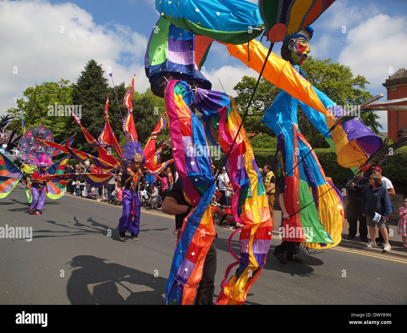 Fasching in Preston, Lancashire. Stockbild