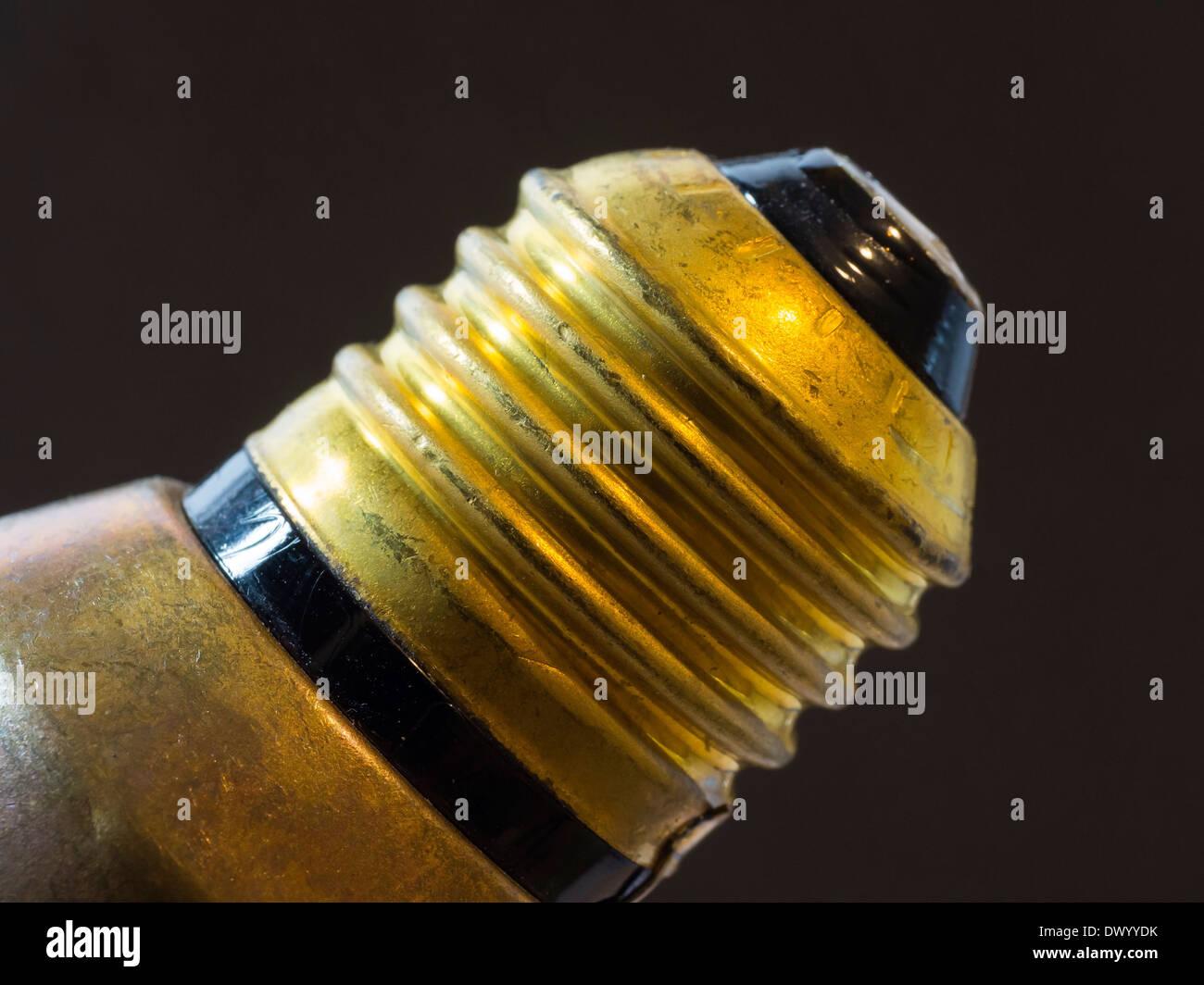 Eine Größe E27 Edison Schraube Glühbirne Montage. Stockbild