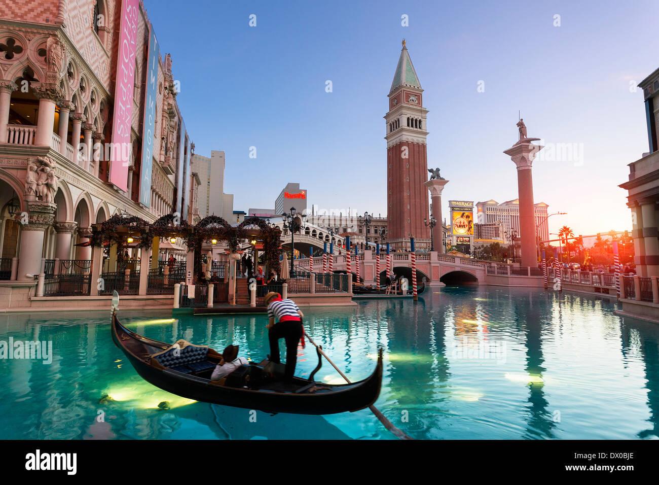 Las Vegas, das Venetian Hotel Stockbild