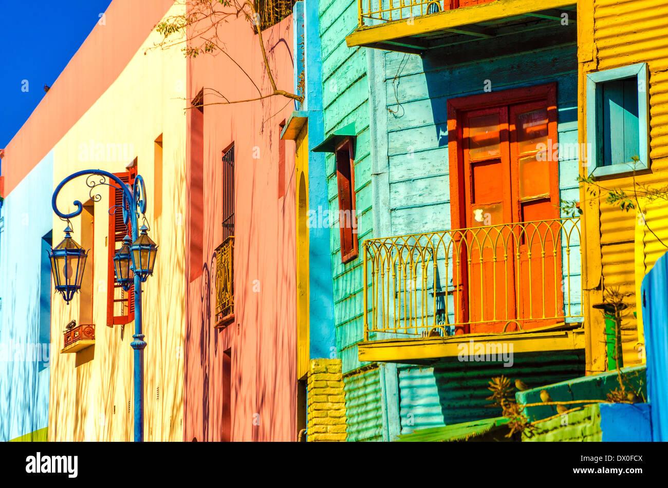 Leuchtenden Farben der Caminito in La Boca Nachbarschaft von Buenos Aires Stockfoto
