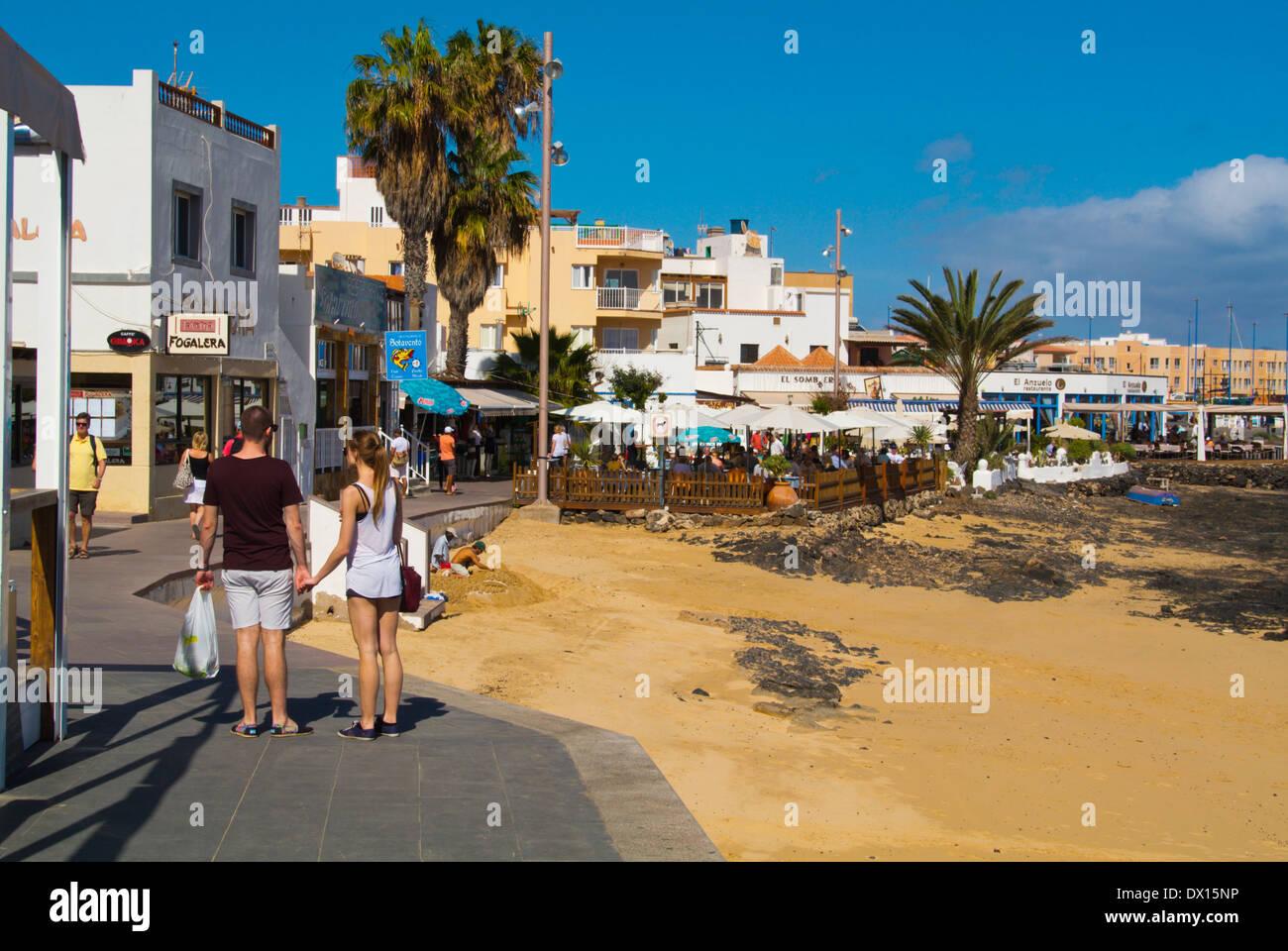 Paseo Maritimo Uferpromenade, Corralejo, Fuerteventura, Kanarische Inseln, Spanien, Europa Stockbild